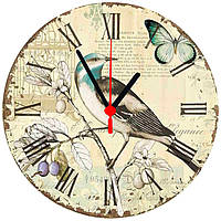 """Настенные часы на стекле """"Иволга"""" , фото 1"""