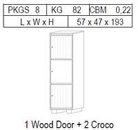 Витрина 1-дверная: 1 дв дерево + 2 CROCO
