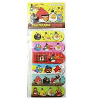 "Закладка с магнитом JQ-850 BI-B/В-B ""AB""PL ""Angry Birds"" (6 шт. в упаковке ), фото 1"