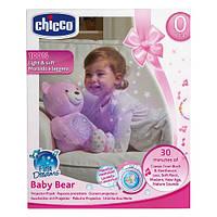 Медвежонок плюшевый с проектором Chicco  First Dream. Розовый, фото 1