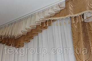 Шторы для гостинной зала спальни №271 3,50м, фото 2