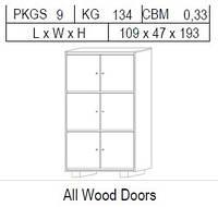 Витрина 2-дверная: 6 дв. дерево