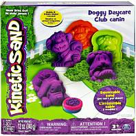 Песок для детского творчества - KINETIC SAND DOGGY (фиолетовый, зеленый, формочки, 340г) (71415Dg)