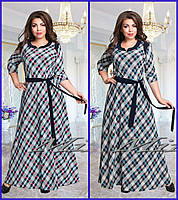 Женское стильное длинное платье 00115