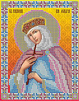Схема для вышивки бисером  Св. Ольга