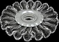 Щетка-крацовка радиальная 115х16мм плоская, закрученная SPITCE