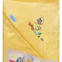Полотенце махровое с капюшоном Tega 80*80 Balbinka  желтое
