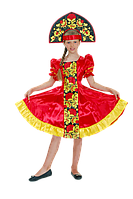 Хохлома с вышивкой народный костюм для девочки