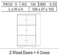 Витрина 2-дверная: 2 дерево и 4 CROCO