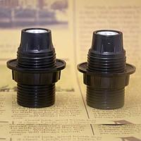Патрон карболитовый с резьбой [ Black ] Е-14, фото 1