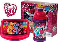"""Набор """"Little Pony (Пони)"""". Контейнер для завтрака (ланч бокс) + бутылка с трубочкой"""