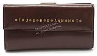 Практичный женский  кошелек коричневого цвета FUERDANI art.8966