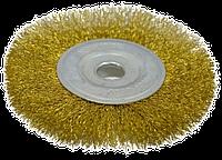 Щетка-крацовка дисковая 125х16мм латунная SPITCE