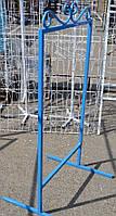 Стенд рекламный голубой 1.25x60