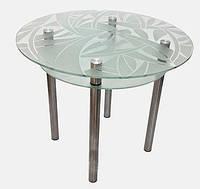 Кухонный стеклянный круглый стол