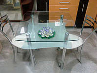 Стеклянный стол для кухни