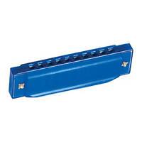 Губная гармошка синяя 13х2,5х3см (86582)