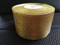 Лента парчовая  золото 5