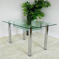 Стекляный стол для столовой