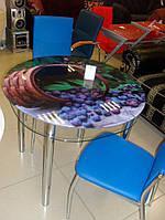Стол кухонный - каленное стекло