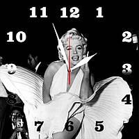 """Настенные часы на стекле """"Marilyn Monroe"""" кварцевые"""
