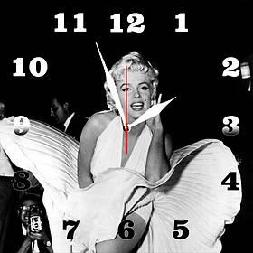 """Настінні годинники на склі """"Marilyn Monroe"""" кварцові"""