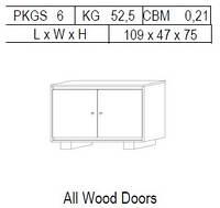 Буфет 2-дверный: 2 дерево