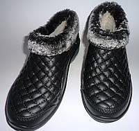 Галош зимний (женский) Эва черный  крок  , фото 1
