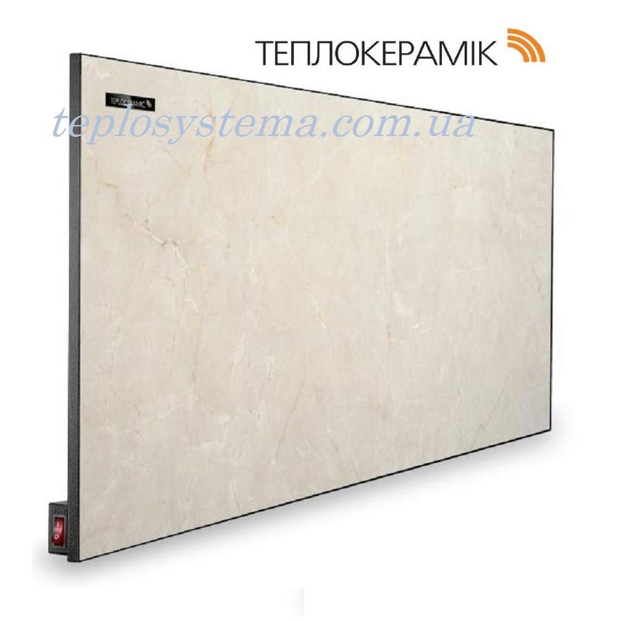 Керамический обогреватель  панель ТЕПЛОКЕРАМИК ТСМ 450 бежевый мрамор (Арт.№ 4905) с выключателем (Киев)