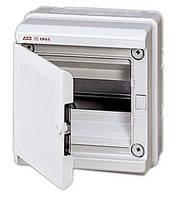 Щиток влагозащищенный ABB EUROPA настенный IP65 / 8 модуля, цвет серый с непрозрачной дверцей