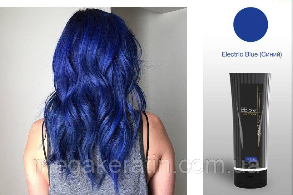 """Прямой краситель синий электрик I.Q.Splash Neon """"Electric Blue"""" 200мл"""