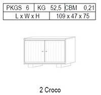 Буфет 2-дверный: 2 CROCO