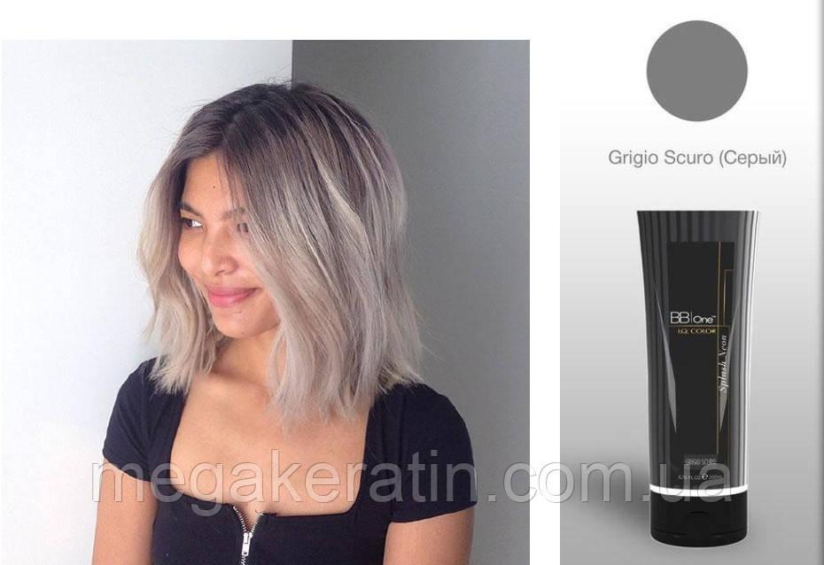 """Прямой краситель серый I.Q.Splash Neon """"Grigio Scuro"""" 200мл"""