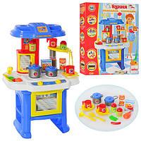 Игрушечная кухня для детей 08912, светозвуковые эффекты, набор аксессуаров для готовки и принятия пищи