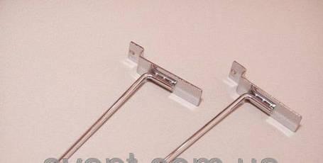 Крючок хромированный в эконом-панель, 15 см. (5мм.), фото 2
