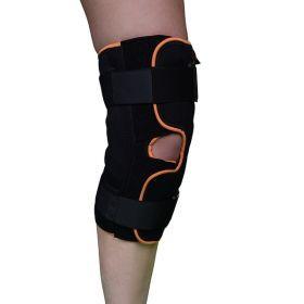 Бандаж для коленного сустава разъемный (с шарнирами и дополнительными ремнями фиксации с полным раскрытием)