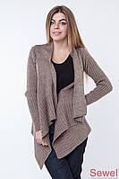 Модная вязаная шаль-накидка