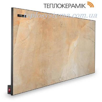 Керамический обогреватель ТЕПЛОКЕРАМИК ТСМ 450 бежевый мрамор (Арт.№ 49202) с выключателем , фото 2