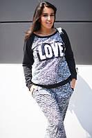 Спортивный костюм батал Love №  833  маг., фото 1