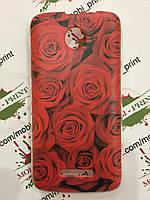 Чехол для Lenovo A390 (Красные розы)