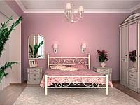 Кровать металлическая двуспальная Глория без изножья, 1800х1900/200, Белый (глянец, матовый), белый снег