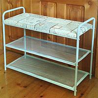 Полка-скамейка для обуви (с мягкой лавкой), фото 1