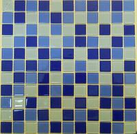 Синяя мозаика для ванной комнаты Vivacer MixC03