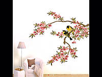 Виниловая наклейка цветение персика