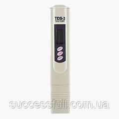 Тестер, измеритель качества воды, солемер цифровой TDS-3