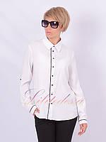 Рубашка классическая с окантовкой белая