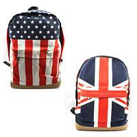 Женский рюкзак флаг Англия (Великобритания), США / рюкзак с флагом Аглии (Великобритании), США, синий