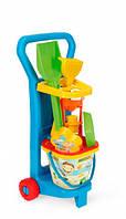 Детский игровой набор с тележкой На пляже Wader 10771 (10771)