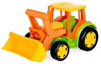Большой игрушечный трактор Гигант с ковшом 55 см wader 66005 (66005)