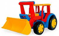 Большой игрушечный трактор Гигант с ковшом 55 см   wader (66000)